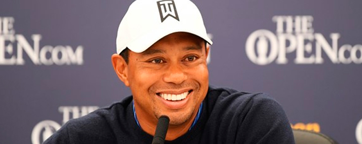 Tiger Woods disfruta como nunca del Open Championship