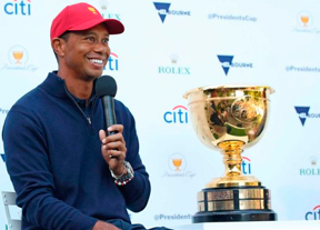 Tiger Woods no descarta elegirse a sí mismo para la Presidents Cup