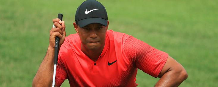 Tiger Woods, preocupado por el putt