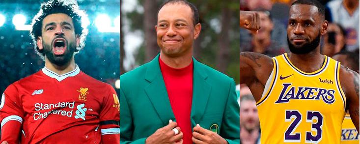 Salah, Woods y James, 'Titanes' del deporte