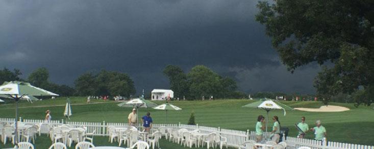 Las tormentas impiden que se termine la primera jornada al completo