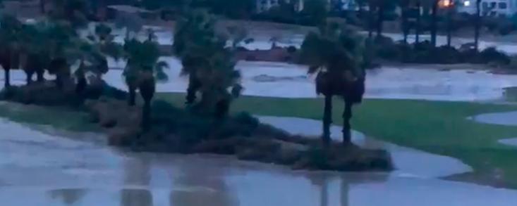 La Torre Golf, inundado por el temporal