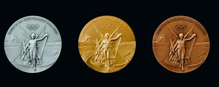 Seis medallas de golf y todas hechas con residuos de teléfonos