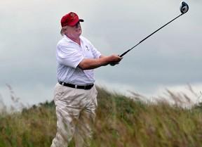 Donald Trump, un fin de semana escocés jugando al golf