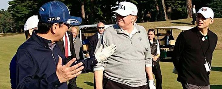 Donald Trump inicia la gira asiática con golf