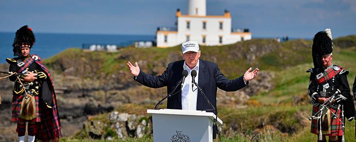 Turnberry no tendrá Open Championship mientras Trump sea el foco de atención