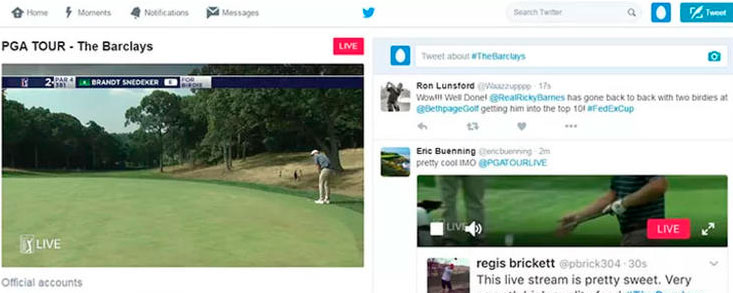 El PGA Tour se podrá ver a través de Twitter esta temporada