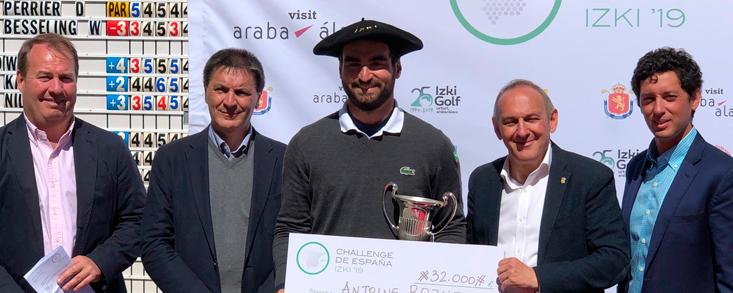 Antoine Rozner se impone en Izki Golf tras firmar 66 golpes