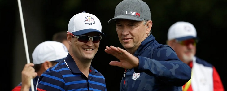 Steve Stricker nombra vicecapitanes a Davis Love III y Zach Johnson