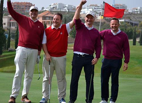 Villa Padierna gana el amistoso con el Real Club de Golf de Pedreña