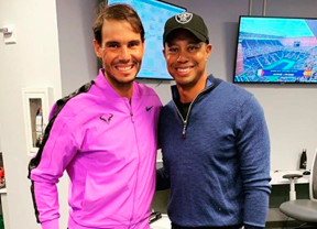 Tiger Woods vibró como un fan más de Rafa Nadal en el Us Open