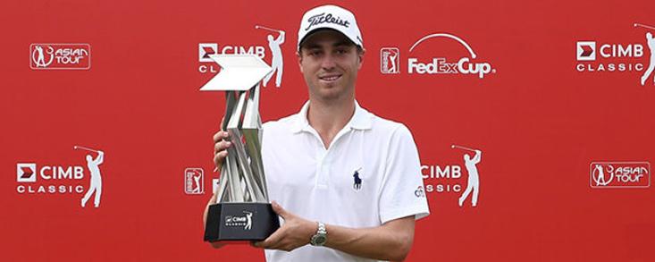 Justin Thomas, primera victoria en la PGA y liderato de la FedEx Cup