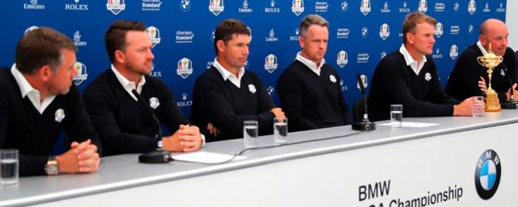 Donald, Harrington, McDowell, Karlsson y Westwood, vicecapitanes de la Ryder Cup