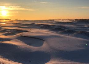 El Golf National de París también sufre las nieves invernales