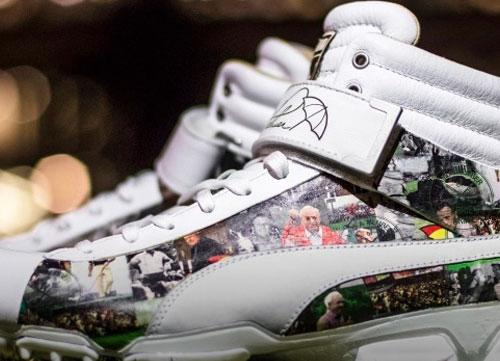 Unos zapatos en homenaje al 'rey'